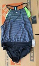 NWT $106 Nike Women's Layered Sport Tankini Swimsuit Set SMALL S blue yellow
