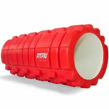 FITFIU ROLLER R. Rodillo de Fitness Deslizante Masajeador 35,5x33cm - Rojo