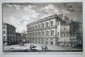 Radierung, Palazzo Pio in Rom, G. Vasi, 1747, Delle Magnificenze Di Roma, Orsini