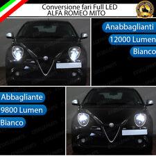 CONVERSIONE FARI FULL LED ALFA ROMEO MITO 6000K BIANCO LED CANBUS 21800 LUMEN