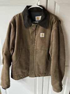 Vintage 1990's Carhartt Brown Work Jacket Size XL Made in USA Very Nice Cond.