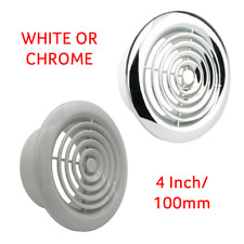 "Manrose 2100 Internal Circular Wall Grille 4"" 100mm 2100W / 2100C White / Chrome"