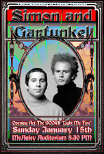 SIMON AND GARFUNKEL DOORS by Detroit poster artist Carl Lundgren