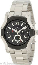 Bulova Men's Wintermoor Steel and Black Ion Case Watch 98B149