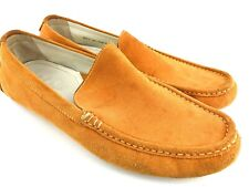 Cole Haan Suede Loafers Men's 12 Driving Shoe Orange Casual Dress Slip on