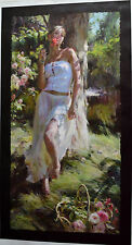 GARMASH QUIET MOMENT GICLEE ON CANVAS HAND EMBELLISHED 18X36 SIGNED #80/95 W/COA