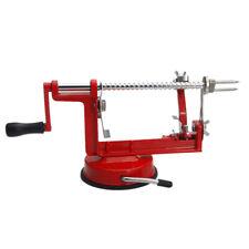 Peeler 3-in-1 Stainless Steel Hand-cranking Apple Peeler Slicer Peeler Red