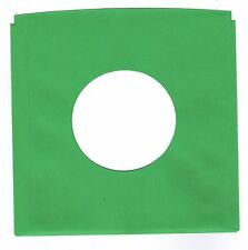45rpm Paper Sleeves:  LOT of  THIRTY SOLID GREEN record sleeves