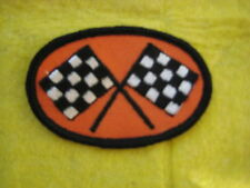 "Vintage Checkered Flags  NASCAR Drag NHRA  Racing  Patch 3 1/8"" X 2  1/8"""
