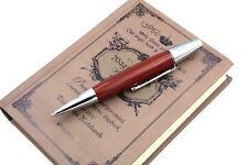 Jinhao red Willow Wood Silver Chessboard Twist Trim Ballpoint Pen
