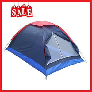 2 Persons Camping Tent Single Layer Beach Tent Outdoor Sun Shelter with Bag