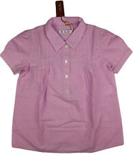 LORO PIANA GIRLS' PLEATED COTTON SHIRT-SIZE 8-MADE IN ITALY-RETAIL $450