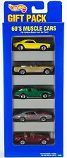 Hot Wheels 60's Muscle Cars 5 Pack Gift Set w/Green Corvette, Olds 7SP's 1996 E3