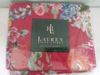 Ralph Lauren twin Fitted Sheet Beach House Floral Fuchsia red