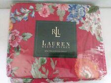 Ralph Lauren twin Fitted Sheet Beach House Floral Fuchsia red