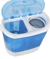 SUPER DEAL Portable Compact Washing Machine, Mini Twin Tub Washer + Spinner