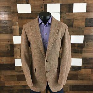 Vintage Harris Tweed For Lands End Unstructured Blazer Sport Coat Jacket Men 44L