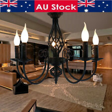 5-Light Modern Black Flame Ceiling Light Lamp Fixture Chandelier Pendant Lamp AU