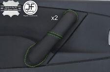 Green Stitch 2X Avant Poignée Porte Couverture en cuir pour CITROEN XSARA PICASSO 04-10