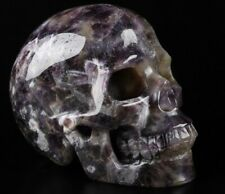 "5.0"" DREAM CHEVRON AMETHYST Carved Crystal Skull, Realistic, Crystal Healing"