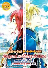 DVD Japan Anime Akagami No Shirayukihime Season 1+2 Box Set (1-24) English Sub