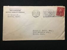 """1928 NEW HAMPSHIRE ADVERTISING COVER WITH FANCY """"MILITARY TRAINING CAMP"""" CANCEL!"""