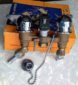 Vintage FA8165 CRANE chrome & brass sink/tub faucet fixture set in box