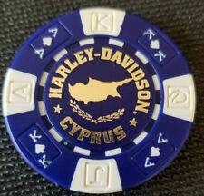 Harley Poker Chip~(Blue/White AKQJ) HD CYPRUS ~ Nicosia/Limassol, Cyprus
