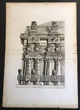 Giovanni Piranesi Architectural etching Large Double Page No. 2