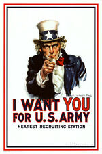 I Want You - Uncle Sam Poster Print, 24x36