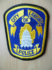 Patches: CITY OF LANSING MICHIGAN POLICE DEPT PATCH (New,approx. 4.5x3.8 inch)