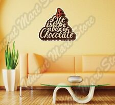 "Life Is Like A Box Of Chocolate Wall Sticker Interior Decor 25""X20"""