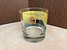 Vintage Imported Black Velvet Canadian Whiskey Dawn Davidson Glass Collectible