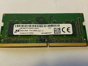 Micron 8GB (1x8GB) DDR4 PC4-2666V 2666MHz Laptop SODIMM RAM Memory 260-Pin
