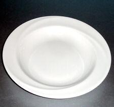 "Wedgwood Solar Rim Soup Bowl White Bone China 9"" Sculptural Shape New"