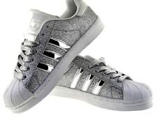 NWOB Womens Adidas Superstar Silver Glitter Limited Edition Sneakers US 6.5
