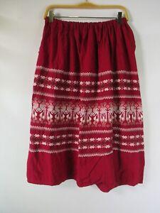 H1116 VTG Women's Ethnic Hand Embroidered Skirt