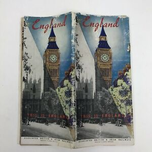 Vintage Travel Brochure England 1939 Map History Associated British Railways