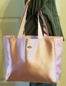 Coach Tote Bag Pink w/ Shimmering Side Panels Shopping Travel Purse Handbag NWT