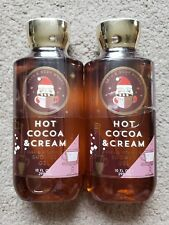 Bath & Body Works Lot-2 x Hot Cocoa & Cream Shower Gel (10 oz. each) Sealed