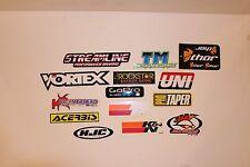 Motorcycle Sticker Set 14 Dirt Bike ATV UTV Vortex Go Pro Rockstar Acerbis Uni