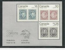 CANADA # 756a MNH CAPEX INTERNATIONAL STAMP EXHIBIT 1978 Souvenir Sheet