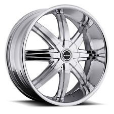 "24"" Strada Magia Chrome Wheels rims&Tires fit 300 Charger Escalade Tahoe F150"