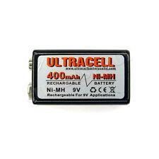 1 x 9V 9 Volt 400mAH PP3 NiMH Rechargeable Battery uc