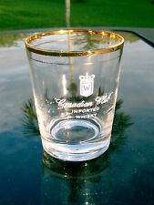 CANADIAN CLUB IMPORTED WHISKY  SPECIAL GLASS WHITE LOGO VINTAGE MADE IN U.S.A.