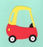 "Cozy Coupe Car Die Cut, 4"" tall, Cricut Cozy Coupe Car Die Cut, Car Die Cut"