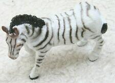 "Realistic White & Black Plastic Zebra Animal Model Play Toy 4.5"" x 4"" x 2"""