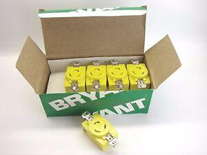 BOX/10 Bryant 70520-FRCR Corrosion Resistant  2P/3W 125V 20A Locking Receptacle