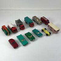 Vintage Matchbox Lesney truck - bus - crane - trailer - Jaguar Lot of 12