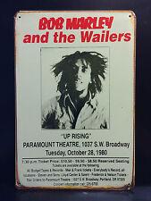 BOB MARLEY 1980 CONCERT POSTER VINTAGE METAL SIGN  30X40 CM JAMAICAN REGGAE